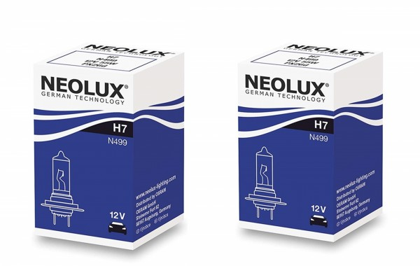 2 x Neolux by OSRAM H7 N499 - 55 W 12 V PX26d