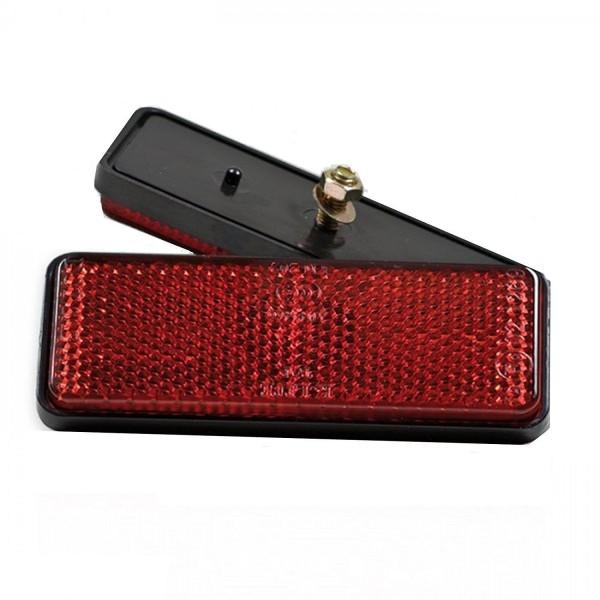 2 Stück Rechteck Reflektor Rot Katzenauge Seitenstrahler mit Schraube Wohnwagen,Anhänger,LKW,Trailer