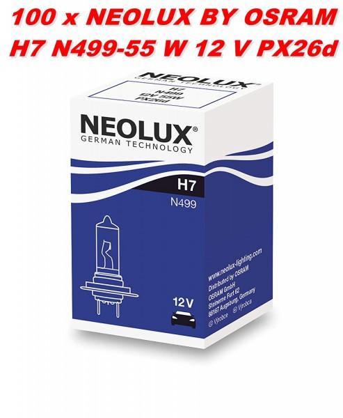 100 x Neolux by OSRAM H7 N499 - 55 W 12 V PX26d