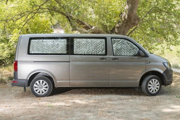 VW T5 T6 Thermomatten 8 Teilig KR mit Heckklappe