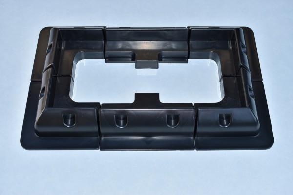 Solarmodul Halterung Eckprofil-Seitenprofil 6 Teilig,Wohnmobil,Wohnwagen Schwarz