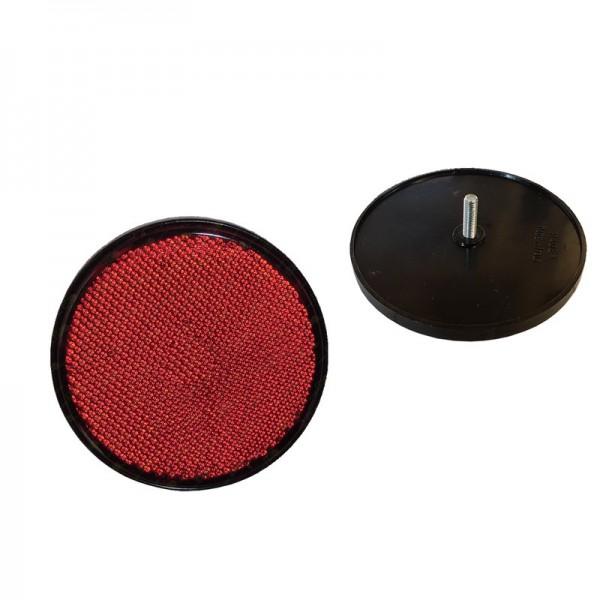 2 Stück Rund Reflektor Rot Katzenauge Seitenstrahler mit Schraube Wohnwagen,Anhänger,LKW,Trailer