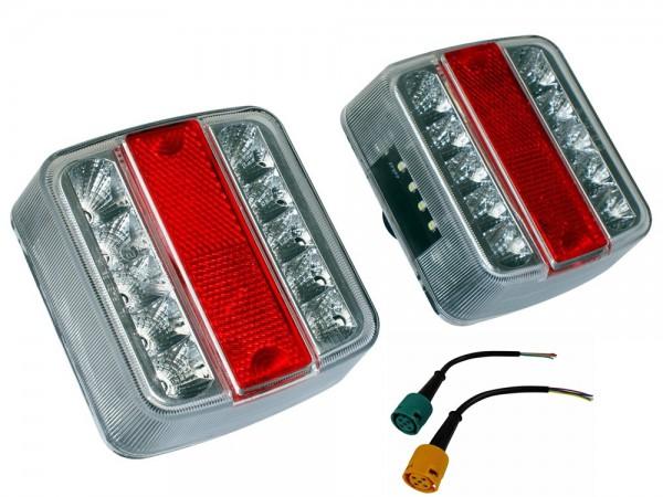 2 x LED-Rückleuchte mit 5-pol Bajonett-Anschluß