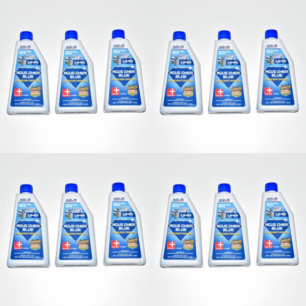 12 x AGUS CHEM BLUE KONZENTRAT-Sanitärflüssigkeit