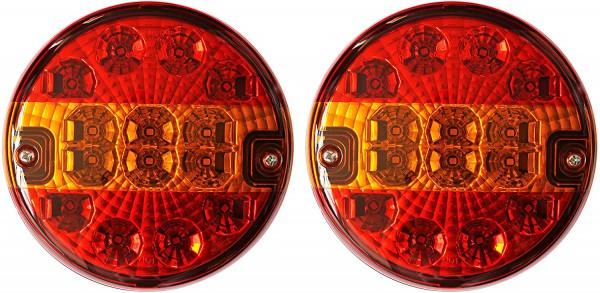 LED Rückleuchten-Set Rund 3 Funktionen