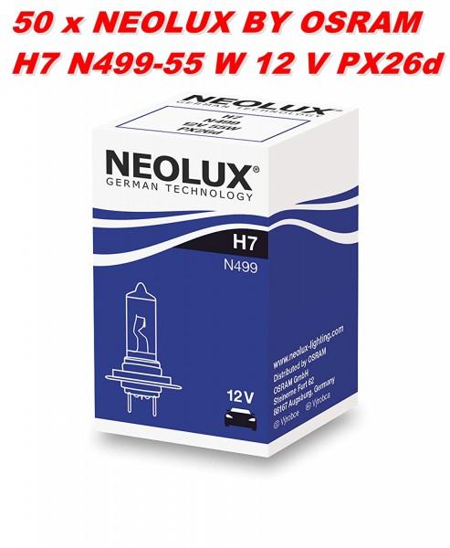 50 x Neolux by OSRAM H7 N499 - 55 W 12 V PX26d
